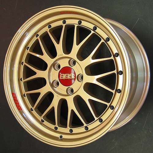 Gold Bbs Lm Wheels On Imola Red Bmw 330 Zhp